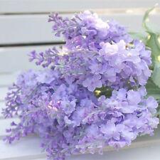 10 Heads Fabric Lavender Home Decoration Wedding Artificial Silk Flowers Bouquet