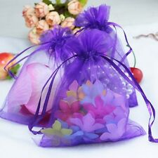100pc Organza Gift Bags Jewelry Candy Bag Wedding Favors Bags Mesh Gift Pouches