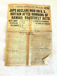 J**S DECLARE WAR ON U.S.,BRITAIN~ CLEVELAND PLAIN DEALER ~ DECEMBER 8, 1941