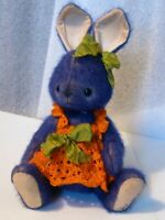 "Rabbit Artist OOAK Vintage 8"" JEWELL dk blue orange dress jointed PRISTINE"