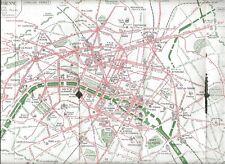 OLD TRAMWAY AND MOTOR BUS TOURIST PLAN OF PARIS - 1922