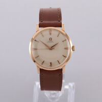 Vintage 18ct Rose Gold Omega Automatic Gents Wristwatch