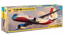 "Zvezda 7023 Civil Airliner TU-204-100 ""RED WINGS"" 1/144"