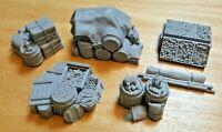 28mm Nomadic Merchant Cargo Set 1,Scatter, Terrain, Scenery for Wargames,