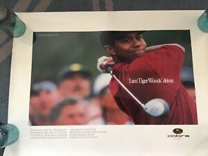 "TIGER WOODS COBRA GOLF ""I am Tiger Woods Driver"" Poster. 24""x32"""