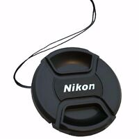 2 x 52mm Snap On Front Lens Cap Cover with String Holder for Nikon Camera DSLR
