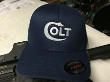 Colt Logo Embroidered Flexfit Ball Cap Hat Black, Olive Green or Navy Blue
