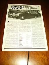 1981 MERCEDES BENZ 300TD   ***ORIGINAL ARTICLE***