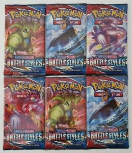 POKEMON Sword & Shield Battle Styles - 6 Booster packs FREE SAME DAY SHIPPING