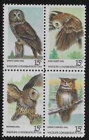 US Scott #1760-63, Block of 4 1978 Wildlife 15c FVF MNH