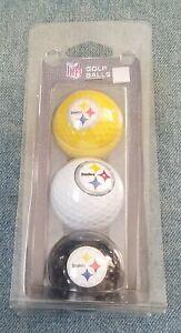 Vintage Pittsburgh Steelers NFL Licensed Golf Balls Set of 3. Team Golf
