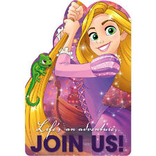 TANGLED Dream Big INVITATIONS (8) ~ Birthday Party Supplies Stationery Cards