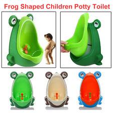 Kid Baby Potty Toilet Training Urinal Boys Pee Trainer Cute Frog Shaped Bathroom
