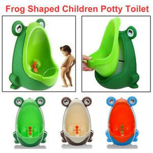 Kid Baby Potty Toilet Training Urinal Boys Pee Trainer Cute Frog Shaped Bathroom