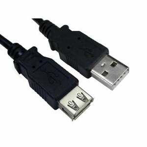 3m USB Extension Cable Lead A Male To A Female Extension High Speed 2.0