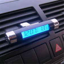 Car Auto Dashboard & Air Vent Digital LCD Backlight Mini Thermometer Time Clock