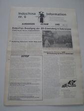 INFORMAZIONI DI INDO-CINESE No.6 COMUNISMO GIORNALE GERMANY 1975 Vietnam War
