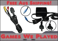 Genuine Super Nintendo SNES Power Supply & Genuine AV Cord Replacement