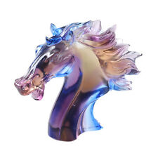 Liuli Crystal Horse Head Figurine Paperweight Ornament Unique Gift Keepsales