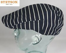 STETSON WATERLOO Cotton Maritime Flatcap Mütze Cap Baumwolle Segler Marine Neu