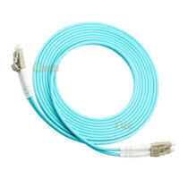 15M LC-LC Multi-Mode MM OM3 10G Duplex DX Fiber Optic Cable Patch Cord AQUA