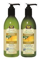 AVALON ORGANICS Citron glycérine main SAVON & main / lotion corporelle paquet