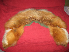 antique fox rabbit collar Red Fur Large Wide