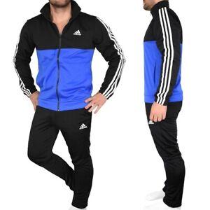 Adidas Men's Tracksuit Sports Suit Tracksuit Slim Fit Black/Blue/White