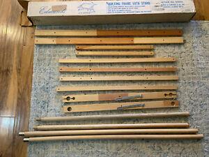 Original Vintage Frank A. Edmunds Co. Quilting Frame with stand / Model 5560A