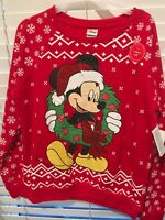 DISNEY Mickey Mouse CHRISTMAS Ugly Sweater SWEATSHIRT LIGHTUP JUNIORS Sizes XS-L
