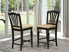 Chelsea Stools Bar Set Of 2 Counter Height Chairs Chs-blk-lc