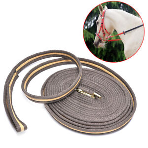 8M Horse Lunge Line Large Dog Training Lead Webbing Equestrian Horse Rope .BI