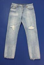 Levis 501 CT W28 L34 tg 42 44 jeans boyfriend strappi usati gamba dritta T2014