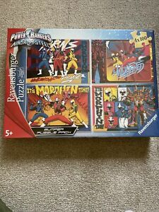 Ravensburger 4 x 100 Piece Power Rangers Ninja Steel Jigsaw Puzzles