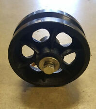 "6""  inch V Groove Wheel For Rolling/Sliding Gates Includes Axle Bolt/Nut"
