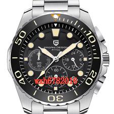 43MM PAGANI DESIGN Yellow Mark Small Third Dial Quartz Chronograph Mens Watch