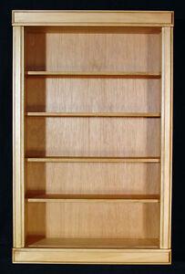 "4"" deep Adjustable shelves  WALL CABINET  SHADOW BOX  DISPLAY LIGHT OAK FINISHH"