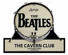 "BEATLES BASS DRUM DIGITALLY CUT OUT VINYL STICKER. 6"" X 5"" OVERALL SIZE."