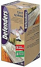 DEFENDERS BIRD REPELLER SPIKES LOW VISABILITY TO DETER PIGEONS, GULLS & CROWS