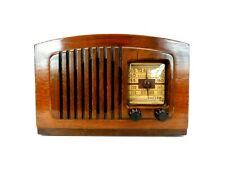 VINTAGE 1940s OLD PHILCO BEAUTIFUL ANTIQUE STRADIVARIUS VIOLIN RADIO , WORKING
