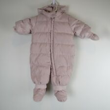 BABY GAP GIRL 0-6 months Pink SNOW SUIT DOWN Hood Infant Coat Jacket Warm Winter