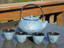 Tetsubin 27 oz. CAST IRON TEAPOT SET - INFUSER, TRIVET & 4 CUPS Kettle - C62