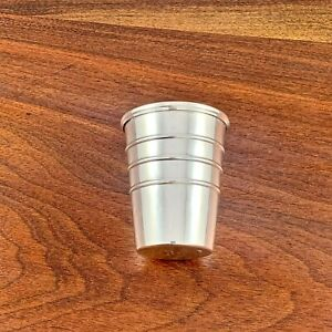 SMITH & SMITH STERLING SILVER GRADUATED JIGGER / SHOT CUP NO MONOGRAM