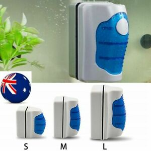 Magnetic Aquarium Fish Tank Glass Algae Scraper Cleaner Brush Tool S-L Size