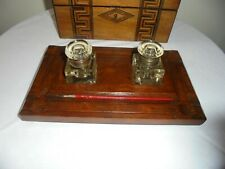 Antique Desk Inkstand And Inkwells