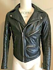 Leather punk moto jacket