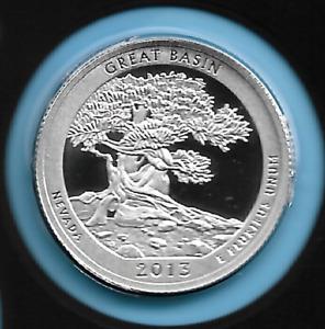 Nevada ATB Silver Quarter 2013 S Great Basin Silver Proof Quarter 90% Silver