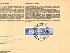 AN415 1978 ITALY 1000Lire Postage Dues SWITZERLAND Corcelles PARCEL POST RECEIPT