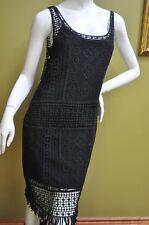 Ralph Lauren Womens Black Cotton Lace  Sleeveless Dress Lined Size Large