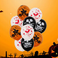 10/20pcs Halloween Balloons Skeleton Pumpkin Print Props Party Decor Supplies~